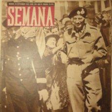 Coleccionismo de Revistas y Periódicos: REVISTA SEMANA 28 SEPTIEMBRE 1943. Nº188. FOTOS DE LA II GUERRA MUNDIAL. . Lote 40055037