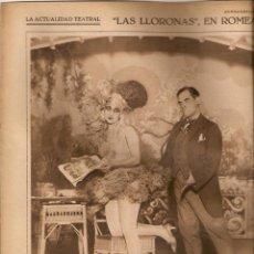 Coleccionismo de Revistas y Periódicos: AÑO 1928 RECORTE PRENSA TEATRO LAS LLORONAS ROMEA CELIA GAMEZ FAUSTINO BRETAÑO. Lote 40063798