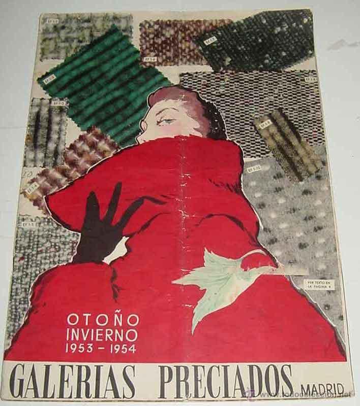 dd8a5fb81 ANTIGUO CATALOGO DE GALERIAS PRECIADOS - OTOÑO-INVIERNO 1953-1954 - TODO  TIPO DE ARTICULOS