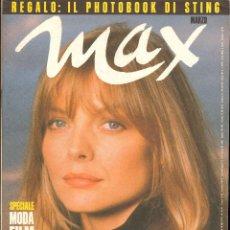 Coleccionismo de Revistas y Periódicos: REVISTA ITALIANA MAX 1991 - MICHELLE PFEIFFER. Lote 40260932