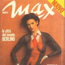 Coleccionismo de Revistas y Periódicos: REVISTA ITALIANA MAX 1993 - DEMI MOORE. Lote 40261228