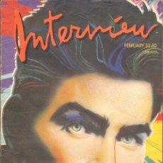 Coleccionismo de Revistas y Periódicos: REVISTA INTERVIEW - FEBRERO 1987. USA / CHARLIE SHEEN. Lote 40269796