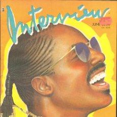 Coleccionismo de Revistas y Periódicos: REVISTA INTERVIEW - JUNIO 1986. USA / STEVIE WONDER. Lote 40269817