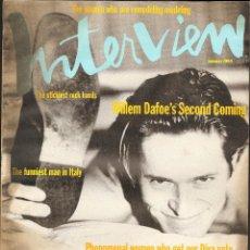 Coleccionismo de Revistas y Periódicos: REVISTA INTERVIEW - ENERO 1993. USA / WILLEM DAFOE. Lote 40272425