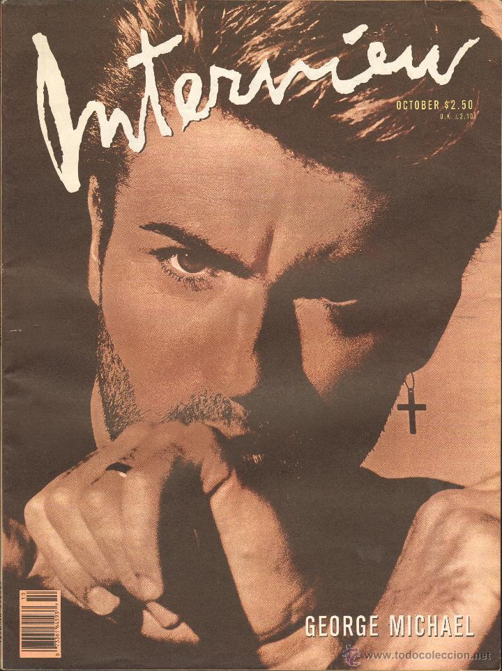 REVISTA INTERVIEW - OCTUBRE 1988. USA / GEORGE MICHAEL (Coleccionismo - Revistas y Periódicos Modernos (a partir de 1.940) - Otros)