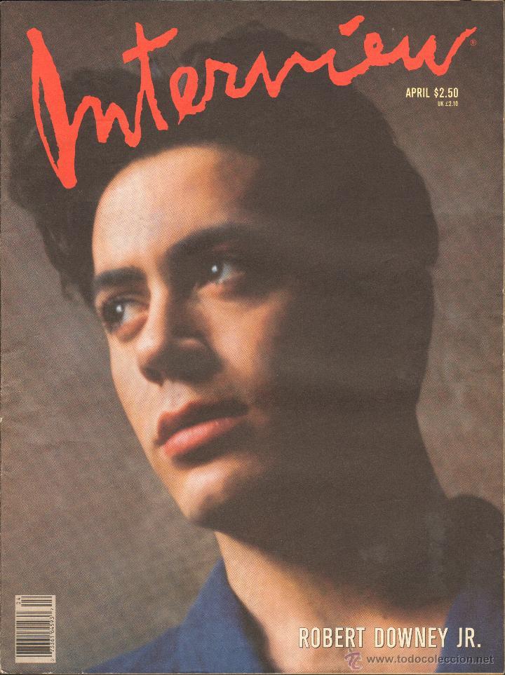 REVISTA INTERVIEW - ABRIL 1989. USA / ROBERT DOWNEY JR. (Coleccionismo - Revistas y Periódicos Modernos (a partir de 1.940) - Otros)