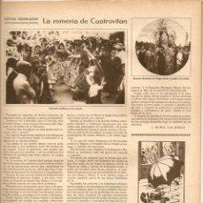 Coleccionismo de Revistas y Periódicos: 1927 CINE MUDO ROMERIA CUATROVITAN GALLETAS LA FORTUNA CAZA MANZANARES KAOL AIGUA VERGE MONTSERRAT. Lote 40273523