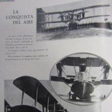 Coleccionismo de Revistas y Periódicos: LA CONQUISTA DEL AIRE ( DIRIGIBLE INGLÉS R 101, AVIÓN BLACKBURN IRIS III ) - 1929. Lote 40280241