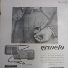 Coleccionismo de Revistas y Periódicos: PUBLICIDAD RELOJ ERMETO DE MOVADO - 1930. Lote 40284441