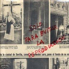 Coleccionismo de Revistas y Periódicos: SEVILLA 1955 SEMANA SANTA 2 HOJAS REVISTA. Lote 40395619
