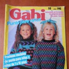 Coleccionismo de Revistas y Periódicos: GABI. PUNTO PARA NIÑOS. 40 JERSEYS PARA NIÑOS. Nº 10 - DIVERSOS AUTORES. Lote 35863780