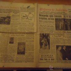 Coleccionismo de Revistas y Periódicos: PERIDICO 1962 - EL CORREO DE ANDALUCIA - SEVILLA COFRADIA VIRGEN ESPERANZA, TRIANA, MUERTE A. BIDON. Lote 40532942