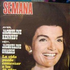 Coleccionismo de Revistas y Periódicos: REVISTA SEMANA / ANNA KARINA, JACQUELINE KENNEDY, SARA MONTIEL, INGRID GARBO, NATHALIE DELON. Lote 40564434