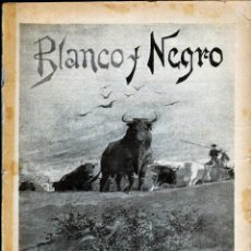 Coleccionismo de Revistas y Periódicos: TEBEOS-COMICS GOYO - BLANCO Y NEGRO - Nº 207 - 1ª EDICIÓN - ABRIL DE 1895 - MUY RARO *CC99. Lote 40567989
