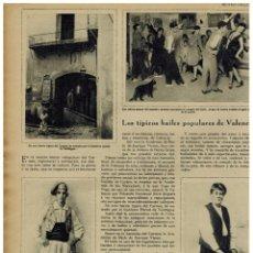 Coleccionismo de Revistas y Periódicos: AÑO 1930 BAILES POPULARES VALENCIA EVARISTO MARAVILLA RONDALLA BISQUERT CANTADOR TRAJES TIPICOS. Lote 40621132