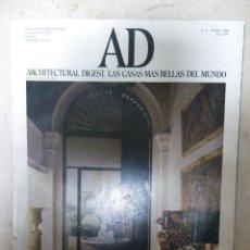 Coleccionismo de Revistas y Periódicos: REVISTA AD ARCHITECTURAL DIGEST. LAS CASAS MÁS BELLAS DEL MUNDO. Nº 4 ENERO 1988. Lote 40646890
