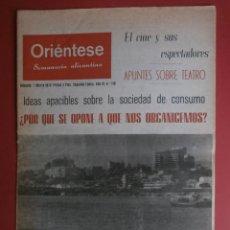 Coleccionismo de Revistas y Periódicos: ORIENTESE Nº110. AÑO 1970. PORTADA-VILLAJOYOSA. FUTBOL-EL HERCULES,ELCHE-ATLETICO DE MADRID.. Lote 40659111