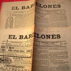 Coleccionismo de Revistas y Periódicos: EL BARCELONÉS - 5 DIARIOS - 1886 . Lote 40692963