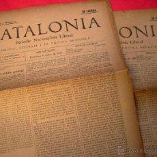 Coleccionismo de Revistas y Periódicos: CATALONIA - 2 DIARIS - 1899-1900. Lote 40693060