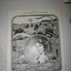 Coleccionismo de Revistas y Periódicos: LAS ESTACIONES.VERANO POR LA ACTRIZ CARMEN JIMENENZ.FOT.KAULAK HOJA DE REVISTA MUNDO GRAFICO 1913. Lote 40745977