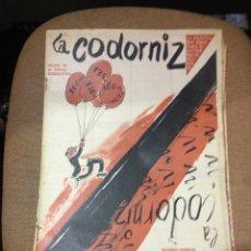 Coleccionismo de Revistas y Periódicos: REVISTA LA CODORNIZ .20 DE ENERO DE 1957. AÑO XVII. Nº 792. ESTAMPAS ESPAÑOLAS. Lote 40779450