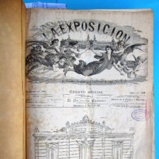 Coleccionismo de Revistas y Periódicos: LA EXPOSICION ORGANO OFICIAL. EXPOSICION INTERNACIONAL DE BARCELONA 1888. OBRA COMPLETA, 1886 -1889. Lote 40780055
