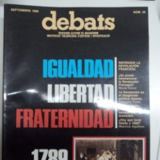 Coleccionismo de Revistas y Periódicos: REVISTA DEBATS. NÚMERO 25.. Lote 40806137