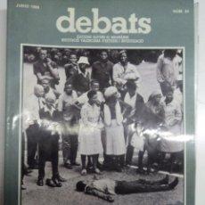 Coleccionismo de Revistas y Periódicos: REVISTA DEBATS. NÚMERO 24.. Lote 101085495