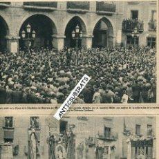 Coleccionismo de Revistas y Periódicos: REVISTA AÑO 1931 MANRESA PLAZA DE LA REPUBLICA FOTOS ENORMES ASAMBLEA DE ORFEONES CATALANES MILLET . Lote 40825373