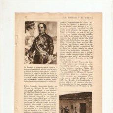 Coleccionismo de Revistas y Periódicos: AÑOS 30 RECORTE PRENSA GRANATULA DE CALATRAVA ESPARTERO LA MANCHA. Lote 40947483