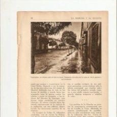 Coleccionismo de Revistas y Periódicos: AÑOS 30 RECORTE PRENSA VALDEPEÑAS CALLE SEIS DE JUNIO MERCADO BODEGAS LA MANCHA. Lote 40948505