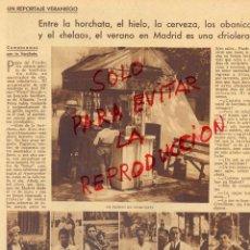Coleccionismo de Revistas y Periódicos: MADRID 1930 REFRESCOS DE VERANO 2 HOJAS REVISTA. Lote 41007386