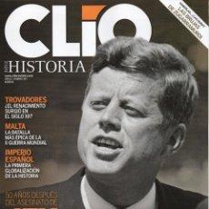 Coleccionismo de Revistas y Periódicos: CLIO HISTORIA N. 145 - EN PORTADA: JFK (NUEVA). Lote 52399716