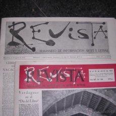 Coleccionismo de Revistas y Periódicos: ARTE - REVISTA - SEMANARIO DE INFORMACION ARTES Y LETRAS ,CABEZERA SALVADOR DALI - 1952-1955. Lote 41279405