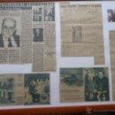 Coleccionismo de Revistas y Periódicos: CUADRO, PERIÓDICOS PREMIO NOBEL JUAN RAMÓN JIMÉNEZ, MOGUER. Lote 41064476