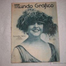 Coleccionismo de Revistas y Periódicos: MUNDO GRAFICO 1922 Nº 535 EN PORTADA MERCEDES PARDO. Lote 41115592