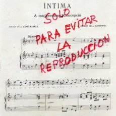 Coleccionismo de Revistas y Periódicos: PARTITURA 1913 INTIMA 2 HOJAS REVISTA. Lote 41162350