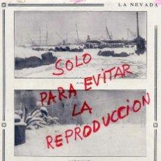 Coleccionismo de Revistas y Periódicos: BARCELONA 1914 GRAN NEVADA VISTAS HOJA REVISTA. Lote 41284551