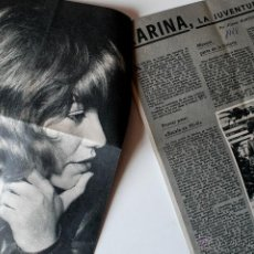 Coleccionismo de Revistas y Periódicos: REPORTAJE DE PRENSA ORIGINAL DE 1968 DE LA CANTANTE KARINA . Lote 41313080
