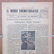 Coleccionismo de Revistas y Periódicos: EL MUNDO CINEMATOGRAFICO - Nº 32 - ENERO 1918 - FERNANDA NEGRI POUGET. Lote 41346465
