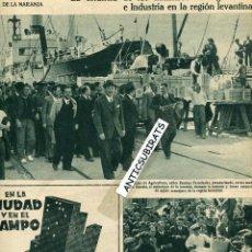 Coleccionismo de Revistas y Periódicos: AÑO 1935 EMBARQUE DE NARANJAS EN GANDIA CANTALEJO FUENTE REBOLLO CAMPEONATO DE ESQUI LA MOLINA. Lote 41455355