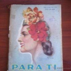 Coleccionismo de Revistas y Periódicos: PARA TI - Nº 1325 - BUENOS AIRES - MARTES 30 DE SEPTIEMBRE DE 1947. Lote 41455527