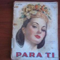 Coleccionismo de Revistas y Periódicos: PARA TI - Nº 1321 - BUENOS AIRES - MARTES 2 DE SEPTIEMBRE DE 1947. Lote 41456089