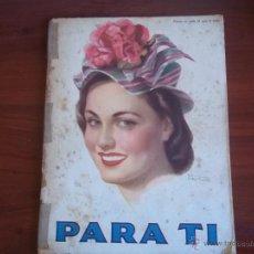 Coleccionismo de Revistas y Periódicos: REVISTA PARA TI - Nº 1373 - BUENOS AIRES - MARTES 31 DE AGOSTO DE 1948. Lote 41457398