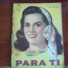 Coleccionismo de Revistas y Periódicos: REVISTA PARA TI - Nº 1284 - BUENOS AIRES - MARTES 17 DE DICIEMBRE DE 1946. Lote 41464483