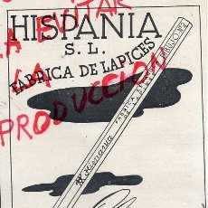 Coleccionismo de Revistas y Periódicos: FERROL DEL CAUDILLO 1942 HISPANIA LAPICES RETAL HOJA REVISTA. Lote 41504304