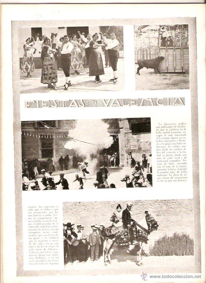 AÑO 1922 RECORTE PRENSA VALENCIA FIESTAS BAILES DANZAS TRAJES TIPICOS POPULARES JOTA (Coleccionismo - Revistas y Periódicos Modernos (a partir de 1.940) - Otros)