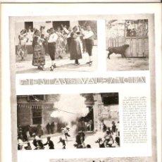 Coleccionismo de Revistas y Periódicos: AÑO 1922 RECORTE PRENSA VALENCIA FIESTAS BAILES DANZAS TRAJES TIPICOS POPULARES JOTA. Lote 41535879