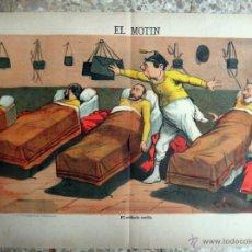 Coleccionismo de Revistas y Periódicos: EL MOTIN, Nº 33 , 1883 , SIGLO XIX , CARTEL LITOGRAFIA , EL SOLDADO SUELTO , ORIGINAL . Lote 41571536
