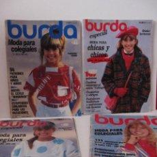 Coleccionismo de Revistas y Periódicos: LOTE 4 REVISTAS BURDA INFANTIL COLEGIALES AÑOS 80. Lote 136104804
